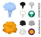 different explosions cartoon... | Shutterstock .eps vector #1094878520