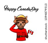 yorkshire terrier. canada day... | Shutterstock .eps vector #1094879513