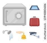 hotel and equipment cartoon... | Shutterstock .eps vector #1094880686