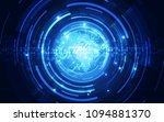 abstract digital technology...   Shutterstock .eps vector #1094881370