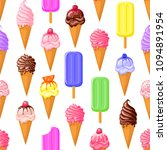 multicolored fruit ice cream... | Shutterstock .eps vector #1094891954
