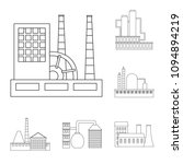 factory and facilities outline...   Shutterstock . vector #1094894219