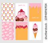 set of sweet food cards.... | Shutterstock .eps vector #1094896904