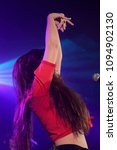 Small photo of BARCELONA - MAY 10: Solea Morente (flamenco singer) performs in concert at Apolo stage on May 10, 2018 in Barcelona, Spain.
