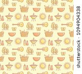 seamless picnic pattern with... | Shutterstock .eps vector #1094904338