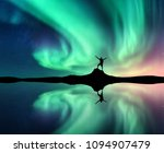 Northern Lights And Silhouette...