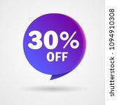 30  off discount sticker. sale... | Shutterstock .eps vector #1094910308