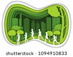 carving design of city urban... | Shutterstock .eps vector #1094910833