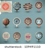 retro label collection | Shutterstock .eps vector #109491110