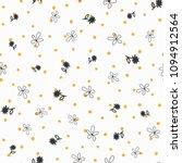 repeated irregular polka dot...   Shutterstock .eps vector #1094912564
