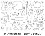 hand drawn set of different... | Shutterstock .eps vector #1094914520