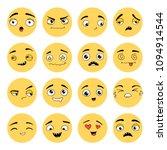 hand drawn set of emoji.... | Shutterstock .eps vector #1094914544
