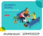 isometric business people... | Shutterstock .eps vector #1094920229