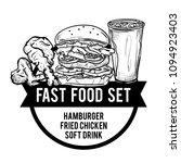 menu fastfood design template... | Shutterstock .eps vector #1094923403