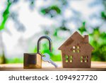 real estate agent with house... | Shutterstock . vector #1094927720