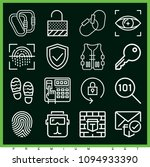 set of 16 security outline... | Shutterstock .eps vector #1094933390