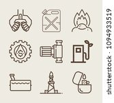 set of 9 fuel outline icons... | Shutterstock .eps vector #1094933519