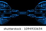 hud futuristic elements data... | Shutterstock .eps vector #1094933654