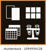 set of 4 two filled icons such... | Shutterstock .eps vector #1094934128