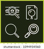 set of 4 search outline icons... | Shutterstock .eps vector #1094934560