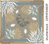 autumn colors. silk scarf with... | Shutterstock .eps vector #1094934839