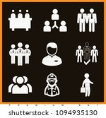 set of 9 men filled icons such... | Shutterstock .eps vector #1094935130