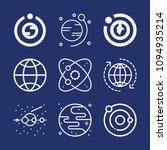 set of 9 planet outline icons... | Shutterstock .eps vector #1094935214