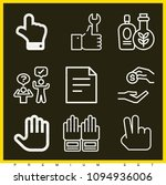 set of 9 hand outline icons... | Shutterstock .eps vector #1094936006