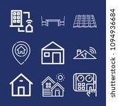 set of 9 home outline icons...   Shutterstock .eps vector #1094936684