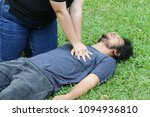 cpr technique for help or first ... | Shutterstock . vector #1094936810