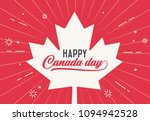 happy canada day  first of july.... | Shutterstock .eps vector #1094942528