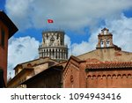 the famous leaning tower among... | Shutterstock . vector #1094943416