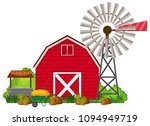 a barn house on white... | Shutterstock .eps vector #1094949719