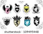 heraldry shields | Shutterstock .eps vector #109495448