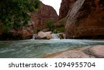 Colorado River runs through Grand Canyon providing exciting whitewater rafting and incredible views along the way. Numerous side canyons can be hiked, often to beautiful waterfalls.