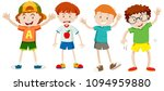 a set of  young boy illustration | Shutterstock .eps vector #1094959880