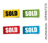 sold realistic sticker and tag... | Shutterstock .eps vector #1094967173