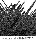 futuristic skew megalopolis... | Shutterstock .eps vector #1094967290