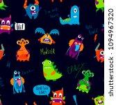 abstract seamless monster... | Shutterstock .eps vector #1094967320