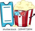 illustration of popcorn on red... | Shutterstock .eps vector #1094972894