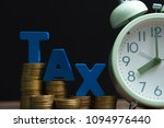 time to pay tax concept. tax... | Shutterstock . vector #1094976440