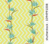 tropical flower bird of... | Shutterstock .eps vector #1094991008