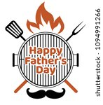 happy father's day barbecue... | Shutterstock .eps vector #1094991266
