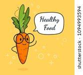 carrot with speech bubble....   Shutterstock .eps vector #1094993594