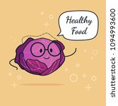 cabbage with speech bubble....   Shutterstock .eps vector #1094993600