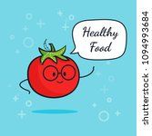 tomato with speech bubble....   Shutterstock .eps vector #1094993684