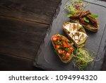 appetizer italian bruschetta... | Shutterstock . vector #1094994320