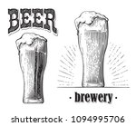 beer glass filled with beer.... | Shutterstock .eps vector #1094995706
