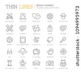 collection of movie genres thin ...   Shutterstock .eps vector #1094995973
