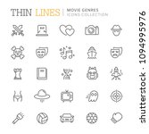 collection of movie genres thin ...   Shutterstock .eps vector #1094995976